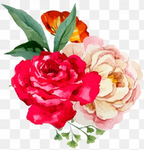 Marriage Proposal - Garden Roses Floral Design Watercolor Painting Flower PNG