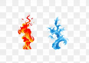 Vector Water And Fire - Icon PNG