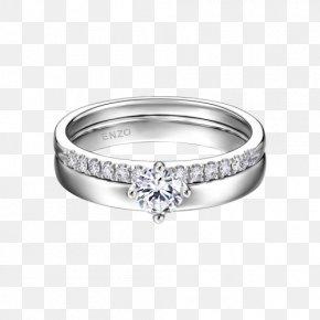Enzo Platinum Ring - Ring Platinum Engagement Wedding PNG