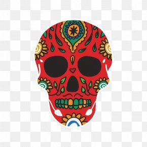 Day Of The Dead Skull Sticker - Skull And Crossbones Calavera Day Of The Dead Human Skull Symbolism PNG