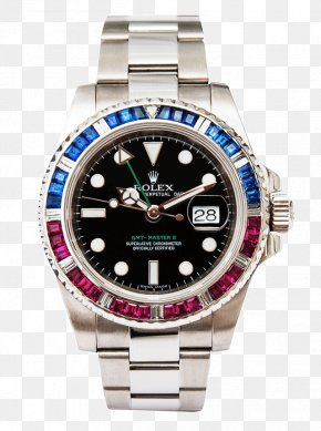 Diamond Bezel - Rolex GMT Master II Rolex Submariner Rolex Datejust Watch PNG