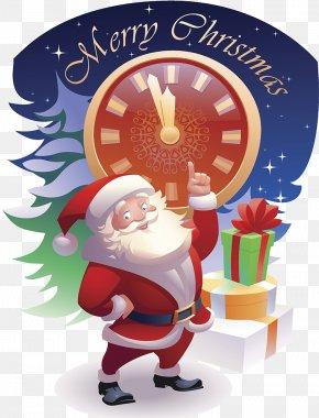 Santa Claus Presents - Santa Claus Christmas Ornament Text Cartoon Illustration PNG
