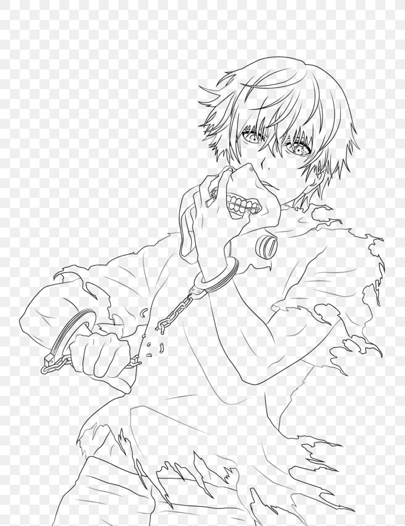 Tokyo Ghoul Drawing Line Art Coloring Book, PNG, 9x9px