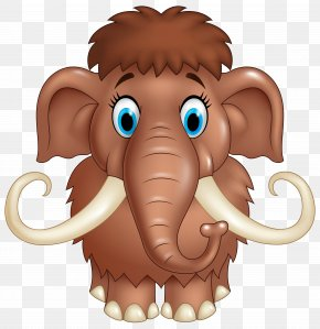 Cute Mammoth Cartoon Clipart Image - Woolly Mammoth Cartoon Stock Photography Illustration PNG
