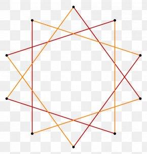 Triangle - Decagram Star Polygon Vertex Geometry PNG