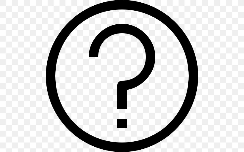 Question Mark Sign ICO Icon, PNG, 512x512px, Symbol, Area, Black And White, Button, Doubt Download Free