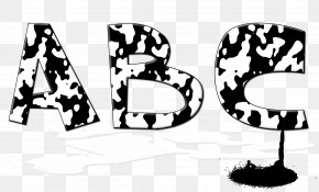 Letter Alphabet Unicorn FontUnicornio - Black And White Taurine Cattle Letter Font PNG