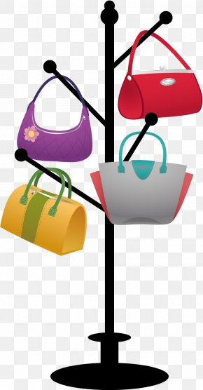 Vector Hangers And Bags - Clothes Hanger Handbag PNG