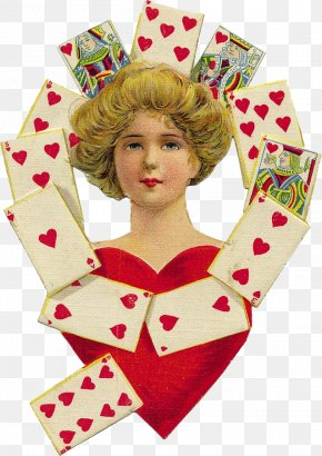 Queen - Queen Of Hearts King Of Hearts Playing Card PNG