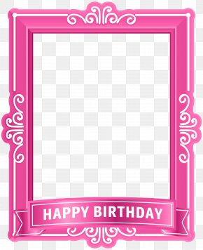 Happy Birthday Frame Pink Clip Art - Birthday Cake Happy Birthday To You Clip Art PNG
