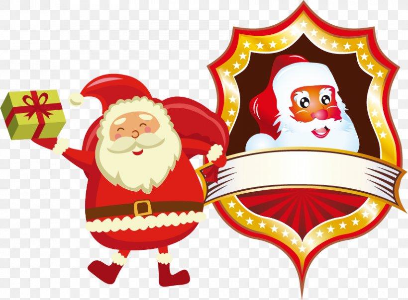 Santa Claus Christmas Clip Art, PNG, 853x629px, Santa Claus, Christmas, Christmas Decoration, Christmas Ornament, Digital Image Download Free