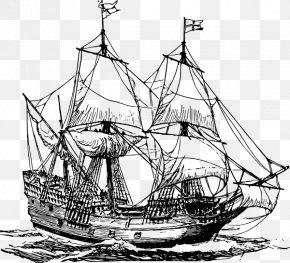 Ship - Sailing Ship Piracy Clip Art PNG