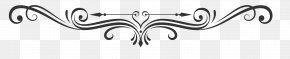 Classic Black And White Floral Pattern Dividing Line - Black And White PNG