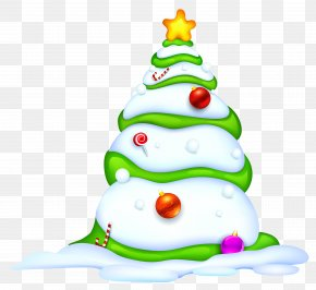 Christmas Snowy Tree Picture - Christmas New Year Paper PNG