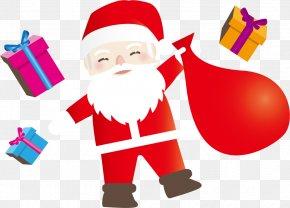 Vector Santa Claus And Gifts - Santa Claus Village SantaCon Christmas Ornament Gift PNG