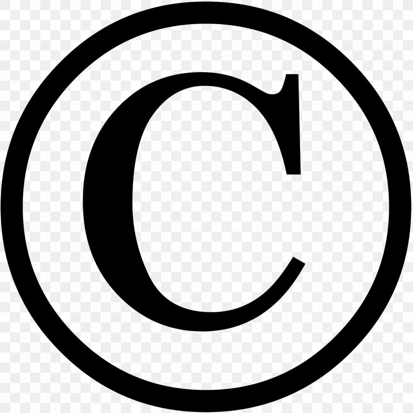Copyright Symbol Copyright Notice Copyright Law Of The United States Intellectual Property, PNG, 2000x2000px, Copyright Infringement, Area, Black And White, Clip Art, Copyright Download Free