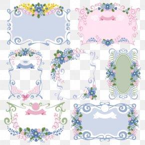 7 Of Retro Floral Border Vector Material - Flower Picture Frame Floral Design Vintage Clothing PNG