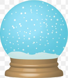 Blue Dream Crystal Ball - Snow Globe Christmas Royalty-free Clip Art PNG