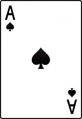 Spades - Ace Of Spades Playing Card Ace Of Hearts Clip Art PNG