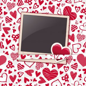 Heart-shaped Frame In Front Of The Background - Heart Picture Frame Valentines Day Pattern PNG