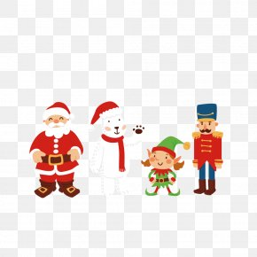 Cute Christmas Elements - Santa Claus Christmas Euclidean Vector PNG