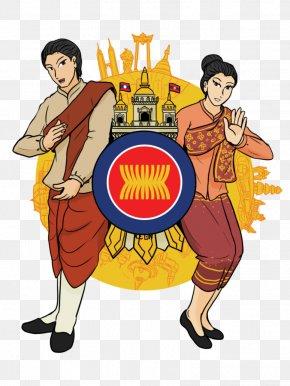 ASEAN - Laos Cartoon Caricature Lao People Clip Art PNG