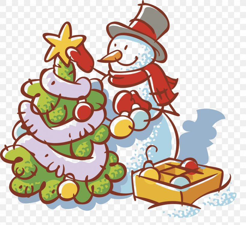 Christmas Decoration Christmas Tree Cartoon Png