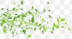 Spring Decor With Leaves Clip Art Image - Leaf Clip Art PNG