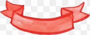 Ribbon Banner - Paper Ribbon Watercolor Painting Clip Art PNG