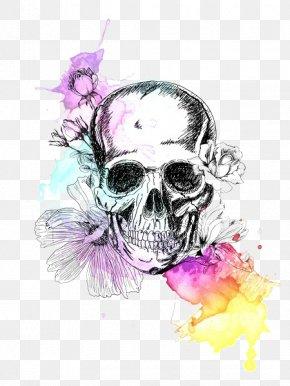 Skull - Skull Calavera Painting Drawing PNG