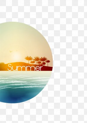 Great Summer Sunshine Island Waterfront Romantic Aesthetic Landscape Album Cover - Icon PNG