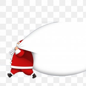 Santa Claus And His Bag Of Gifts - Pxe8re Noxebl Santa Claus Gift Christmas Bag PNG