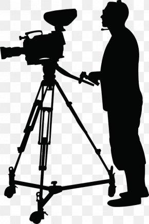 Cameraman Silhouette - Camera Operator Clip Art PNG