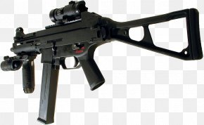Machine Gun - Heckler & Koch UMP Weapon Firearm .45 ACP Submachine Gun PNG
