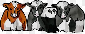 Dairy Blackandwhite - Dairy Cow Bovine Cow-goat Family Livestock Snout PNG