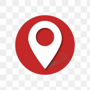 Dark Red Locating Mark - Logo Red Icon PNG