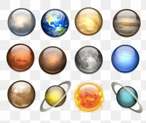 Solar System Planets And Moons - Solar System Planet ICO Icon PNG