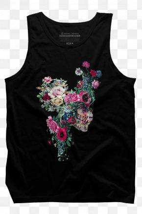 Fashion Skull Print - T-shirt Human Skull Symbolism Clothing Art PNG