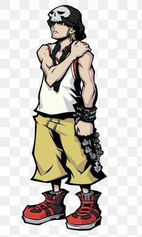 Tetsuya Naito - The World Ends With You Video Game Character Concept Art PNG