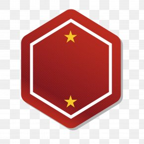 Red Hexagon Label - Logo PNG