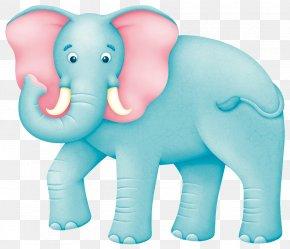 Cartoon Blue Elephant - African Elephant Indian Elephant PNG