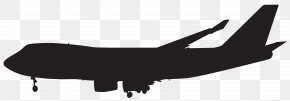 Airplane - Airplane Aircraft Boeing 747 Silhouette Aviation PNG
