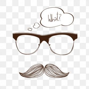 Glasses With A Mustache - Glasses Moustache Drawing PNG