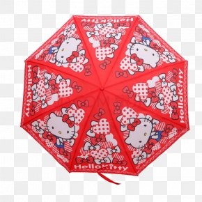 Red Hello Kitty Umbrella - Hello Kitty Online Umbrella Cover Museum Child PNG