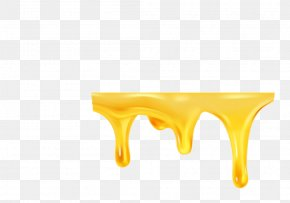 Yellow Honey - Liquid Honey Flow PNG