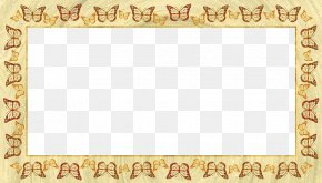 Butterfly Border - Butterfly Picture Frame Pixel Illustration PNG