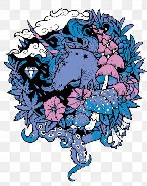 Vector Unicorn - T-shirt Hoodie Unicorn Neckline Illustration PNG