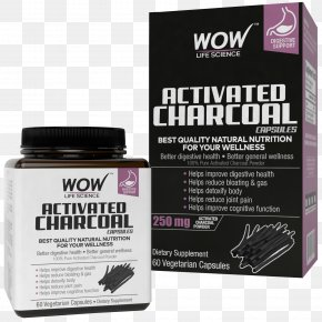 Activated Charcoal - Dietary Supplement Vegetarian Cuisine Capsule Activated Carbon Charcoal PNG