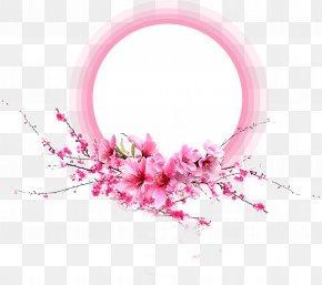 Flowers Border - Pink Petal Flower PNG