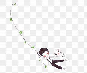 Black Cartoon Child Decoration Pattern - Cartoon Child Poster PNG